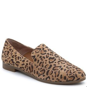 Lucky Brand Brogan leopard loafer suede size 9
